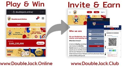 Doublejack - two worlds - one goal you win